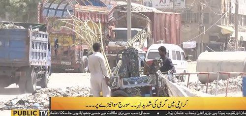 Heat wave in Karachi
