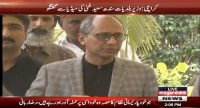 Saeed Ghani converses with the media