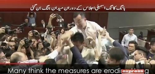 Brawl in Hong Kong assembly