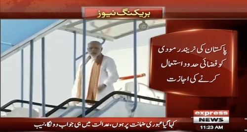 Pakistan allows Modi to fly over its airspace