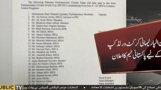 International parliamentarian cricket World Cup squad announced