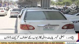 Crackdown against fake number plate in Peshawar
