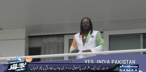 Chris Gayle has a special costume for India v Pakistan game