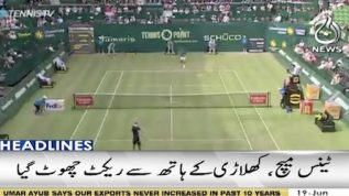 Tennis turns into football