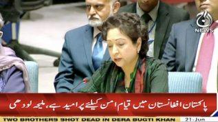 Pakistan is working towards peace in Afghanistan – Maliha Lodhi