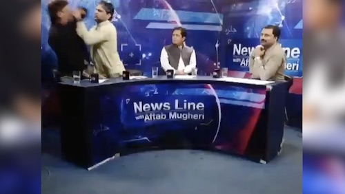PTI's Masroor Siyal grapples with the president press club
