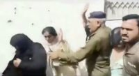 Policemen openly hitting women on the streets