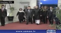 President Alvi received his Afghan counterpart at President House