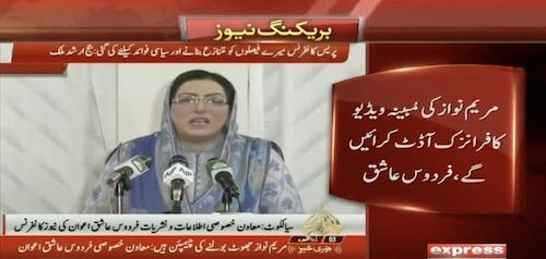 Firdous Ashiq Awan said that the video will be investigated