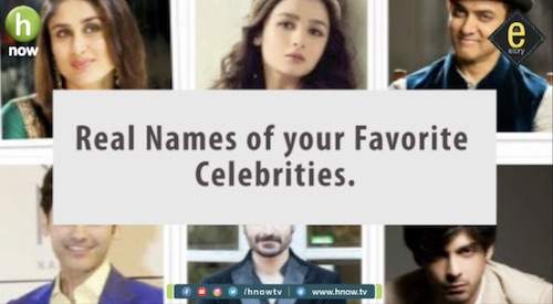 E- Story 9: Do you know the real names of these celebrities?