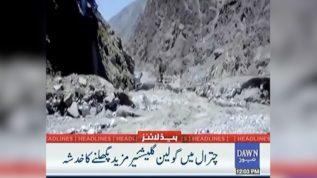 Melting of Goleen Glaciar in Chitral