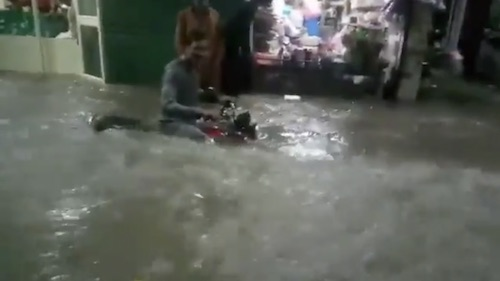 Lahore drenched in water after rainfall