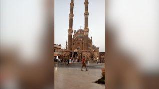 Azan in beautiful mosque in Egypt