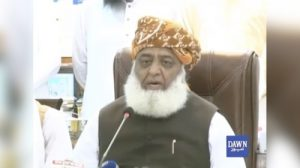 Maulana Fazlur Rehman addresses media