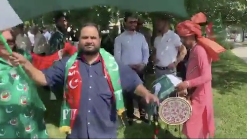 Grand welcome of PM Imran Khan by Pakistanis in USA