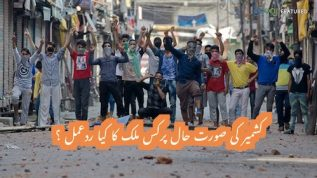 How did the world react to Kashmir issue?