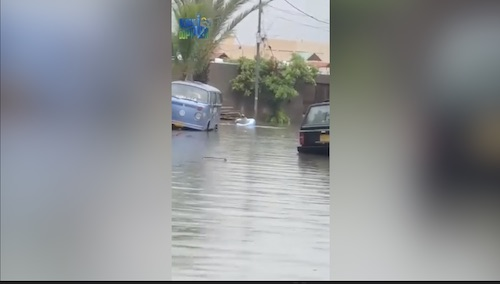 This man is using boat in Karachi