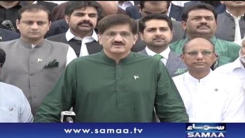 Sindh Chief Minister Muraad Ali Shah Media Talk at Mazar-e-Quaid Karachi