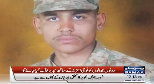 Army soldier martyred in LoC firing by Indian forces: ISPR