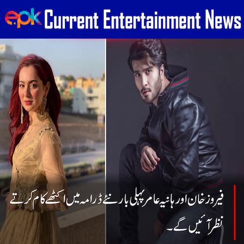 Feroze Khan and Hania Amir together