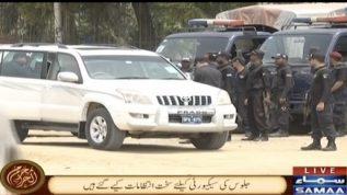 Karachi main 8 Muharram ul Haram ke markazi jaloos kelie security ke sakht intezamat