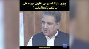 Puri Dunya Kashmir say nazrain mor sakti hen lakin Pakistan nahi: SMQ