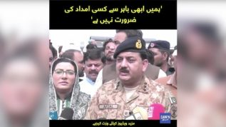 Hamen Abhi Bahir say kisi imdad ki zarurat nahi hai: Chairman NDMA