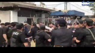 KP police ka young Dr par lathi charj