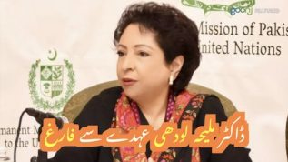 Ambassador Dr. Maleeha Lodhi ko ohdhe say hata dia gia
