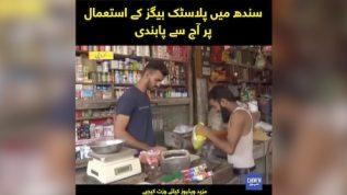 Sindh mai Plastic Bags kay isitmal per aaj say pabandi
