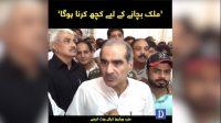 Mulk bachany kay lie kuch karna hoga': Khawaja Saad Rafique