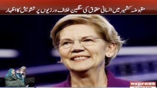 American sadarti umeedwar bhi Kashmir kay haq mein bol pari