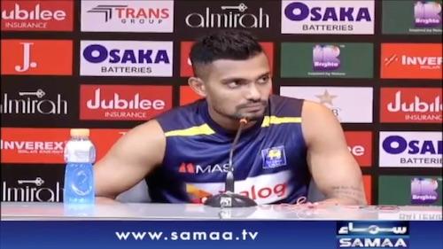 Sri Lankan player Danushka Gunathilanka ke media se guftago.
