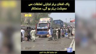 Pak Afghan behtar tijarti talluqat se maeeshat behtar ho gi, sanatkar