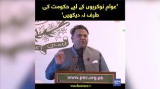 'Awaam Nokrion kay lie Hukumat ki taraf na dekhen': Fawad Chaudhry
