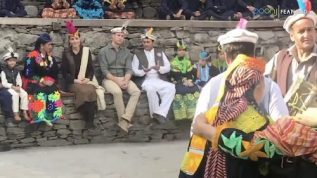 Prince William and Kate Middleton enjoying the traditional Kalash dances
