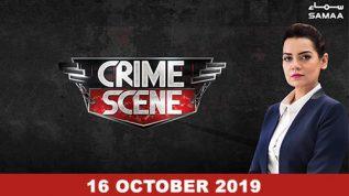 Crime Scene – 16 October, 2019