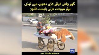 Teddy bear farokhat kar ke ghar chalati Karachi ki bahimmat khatoon