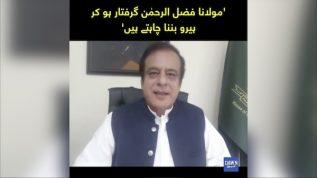 Molana Fazal ur Rehman Giriftar ho kar Hero banna chahty hen