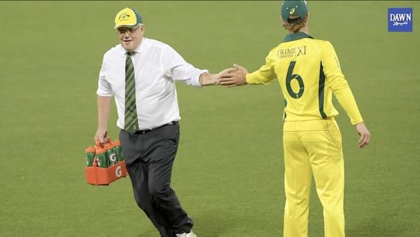 Australian PM Scott Morrison Waterboy ban gaye