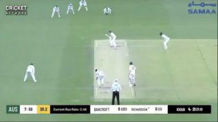 Imran Khan's five wickets haul in warm up test match