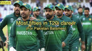 Most fifties in T20i career for Pakistan batsmen
