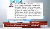4 saal baad Pakistan ka Current Account Sar Plus Ho gya