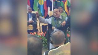 Indian officials interrupt Qasim Suri after he raised Kashmir issue