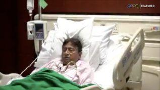 Pervez Musharraf records a video message from hospital