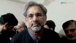 Former PM Shahid Khaqan Abbasi talks to Media