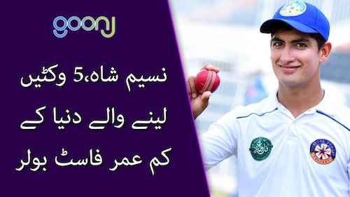 Naseem Shah becomes youngest fast bowler to take five-wicket haul in Tests