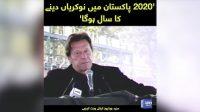 2020 Pakistan mein nokarian denay ka saal hai: PM Imran Khan