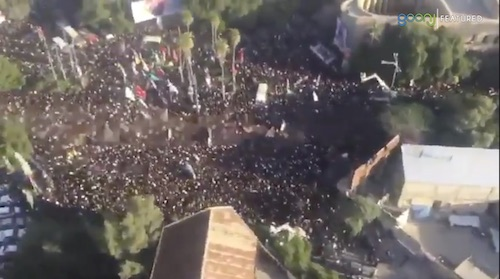 Funeral processions held in Iran for general Soleimani