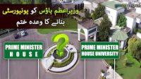 Prime Minister house ko university bana-nay ka wada khatam